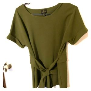 Dark green work blouse